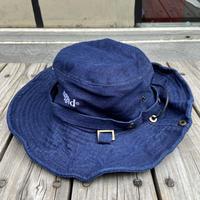 """rugged®︎"" logo string bucket hat (Denim)"