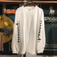 """RUGGED """"rugged®︎"""" sleeve logo L/S tee (White)"""