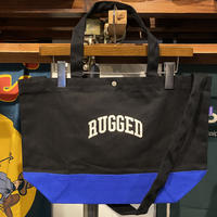 "【ラス1】RUGGED ""SMALL ARCH"" 2way canvas tote bag (Black/Blue)"