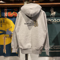 "【残り僅か】RUGGED ""THE NORTHERN LIGHTS"" reverse weave sweat hoodie (Gray/12.0oz)"