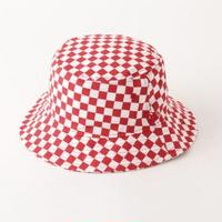 【ラス1】Newera checker flag bucket hat (Red)
