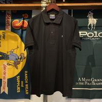 """【ラス1】RUGGED """"old R"""" polo-shirt (Black)"""
