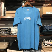 """RUGGED on vintage """"SMALL ARCH"""" tee (Light Blue)"""