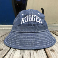 【ラス1】RUGGED on Deadstock ''ARCH LOGO'' metro bucket hat (Denim)