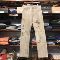 "RUGGED on vintage ""JAPAN ANIMAL"" color denim pants (Gray)"
