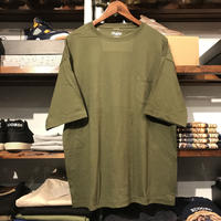 【ラス1】RUGGED big size pocket tee (Olive/5.6oz)