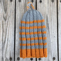 RAME  border knit tam (Gray/Orange)
