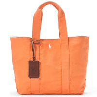 【ラス1】POLO RALPH LAUREN COTTON CANVAS TOTE BAG(Orange)