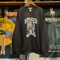 "【残り僅か】RUGGED × EDOFUKU ""UP IN SMOKE"" sweat (Black)"