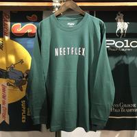 """【残り僅か】RUGGED """"NEET FLEX""""  L/S tee (Green)"""