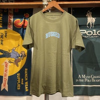 "【残り僅か】RUGGED ""SMALL ARCH"" tee (Olive/Light Blue)"