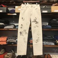 """RUGGED on vintage """"JAPAN ANIMAL"""" color denim pants (Off White)"""