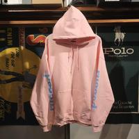 """【ラス1】RUGGED """"rugged®︎"""" sleeve logo hoodie (Salmon pink)"""