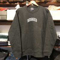 "【ラス1】RUGGED ""ARCH LOGO"" sweat (Black × White/10.0oz)"