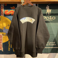 "【残り僅か】RUGGED ""SNOW ARCH"" heavy-wight sweat (Black/12.0oz.)"