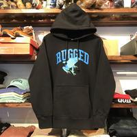 """【ラス1】RUGGED """"蛙"""" sweat  hoodie (Black/12.0oz)"""