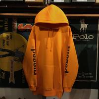 """RUGGED """"rugged®︎"""" sleeve logo sweat hoodie (Orange/10.0oz)"""