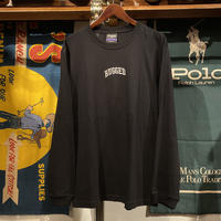 "【ラス1】RUGGED ""SMALL ARCH"" embroidery L/S tee (Black)"