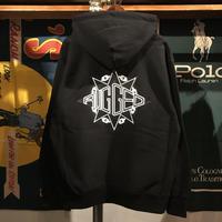"""【ラス1】RUGGED """"RUGGED STARR"""" reverse weave hoodie (Black/12.0oz)"""
