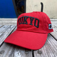 "【web限定】RUGGED  ""TOKYO NAVY"" adjuster cap (Red)"