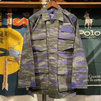 """【ラス1】RUGGED """"STENCIL ARCH"""" tiger camo jacket (Purple)"""