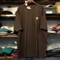 【残り僅か】Carhartt pocket tee (Dark Brown)