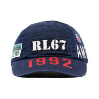 "【ラス1】POLO RALPH LAUREN ""1992"" 5panel long bill cap (Navy)"