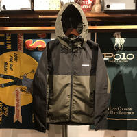"【ラス1】RUGGED ""Real/Fake"" nylon shell parka (Olive)"