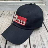 "RUGGED ""上上下下左右左右BA"" adhuster cap (Black)"