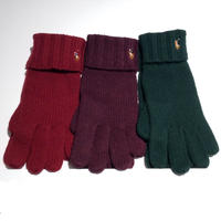 【残り僅か】POLO RALPH  LAUREN big pony knit globe (Burgandy/Purple/Green)
