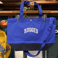 """【残り僅か】RUGGED """"SMALL ARCH"""" 2way canvas tote bag (Blue)"""