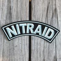"""【ラス1】NITRAID """"BOX ARCH"""" sticker (Gloss Black)"""