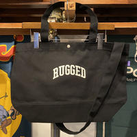 "【残り僅か】RUGGED ""SMALL ARCH"" 2way canvas tote bag (Black)"