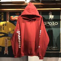 """RUGGED """"rugged®︎"""" sleeve logo hoodie (Burgundy)"""