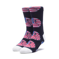 "【残り僅か】HUF ""BUMMER"" USA SOCK (BLACK)"