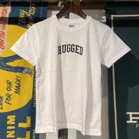 """【残り僅か】RUGGED """"SMALL ARCH"""" kids tee (White)"""