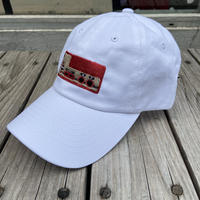 "【Web限定】RUGGED ""上上下下左右左右BA"" adjuster cap (White)"