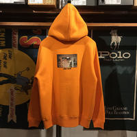 "【残り僅か】RUGGED ""HARD COCAINE"" full-zip hoodie (Orange)"