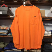 "【残り僅か】RUGGED ""rugged®︎"" pocket L/S tee (Orange)"