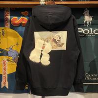 """【ラス1】RUGGED """"欲"""" heavy-wight hoodie (Black/12.0oz)"""