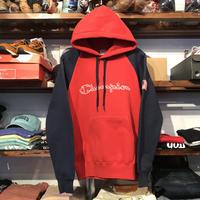 【ラス1】Champion logo raglan hoodie (Red)