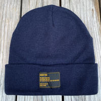 【ラス1】RUGGED tag beanie (Navy)
