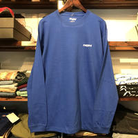 "【ラス1】RUGGED ""rugged"" L/S tee (Blue)"