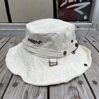 "【残り僅か】RUGGED ""rugged®︎"" logo string bucket hat (Cream)"