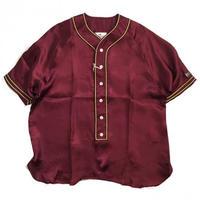 【ラス1】VOTE Satin Baseball Shirts (Maroon)