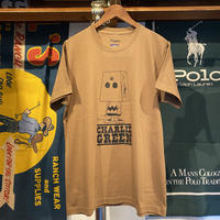 """RUGGED """"Charlie Green"""" heavy weight tee (Camel)"""