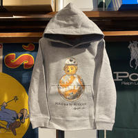 "【ラス1】RUGGED ""POLO B-8"" kids sweat hoodie (Gray/10.0oz)"