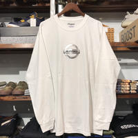 "【ラス1】RUGGED ""GONE"" L/S tee  (White/Metallic)"