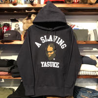 "【ラス1】RUGGED ""YASUKE"" heavy weight sweat hoodie(Navy/12.0oz)"