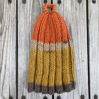 RAME  border knit tam (Mustard/Orange)